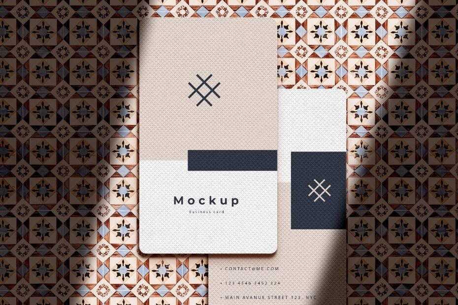 Business card mockup easy to use with smart objects